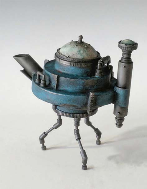 Matthew Naftzger-Need a lift---Titanium, copper, sterling silver, vitreous enamel,
