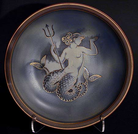 Mermaid with Trident Dish Nyland Gunnar 1944