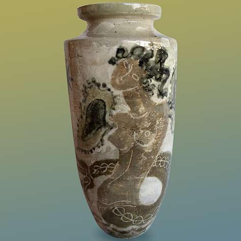 Mid-Century Modern Rene Buthaud French Ceramic Glazed Vase - BERTIL BERNHARDT-Miami