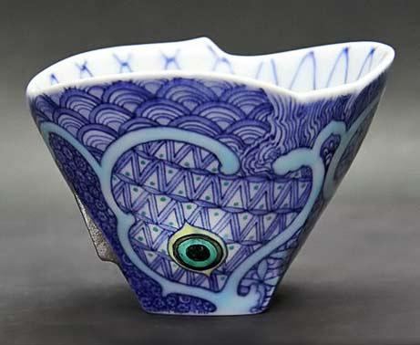 Mutsu-Takayanagi porcelain tea cup -Kyoto
