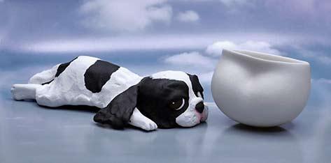 Oishi-Shiori---ceramic dog and cup
