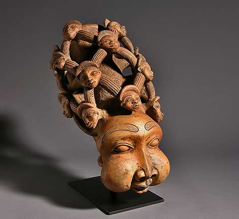 Hand carved Queen Mothers Pipe,Bamun-Cameroon Douglas Dawso -Gallery,-Chicago-IL