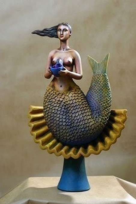 Sergio Bustamante mermaid sculpture