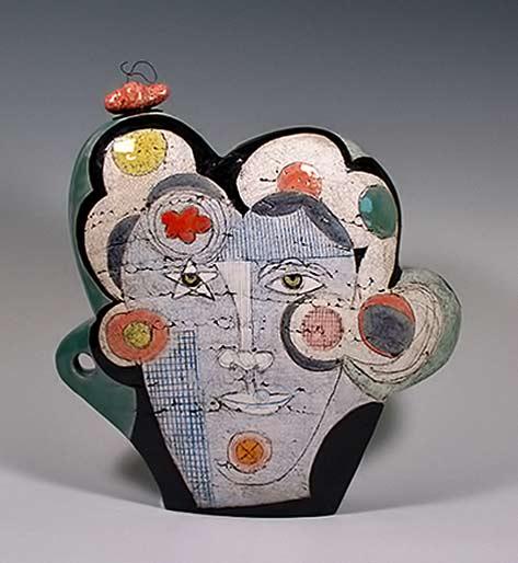 Sheryl Zacharia_Big Head in the Clouds ceramic teapot