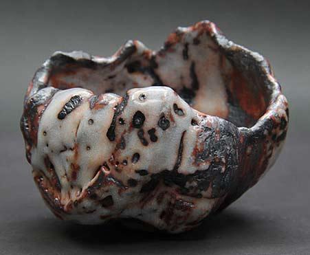 Shino Shika Goto tea bowl