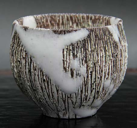 Shinya Tagami- white drip glaze tea cup