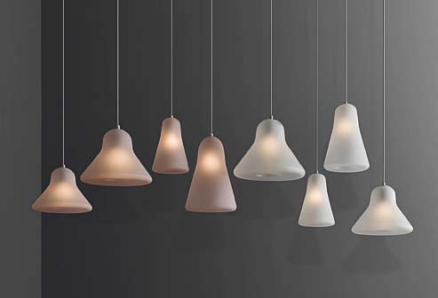 The Cabin Pendant takes its name from the cabin of a space shuttle, offers two different qualities of light.