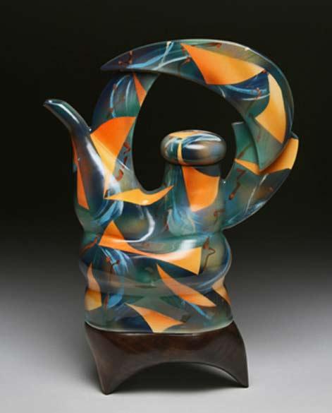 Tom-Hubert_Orange Shape teapot