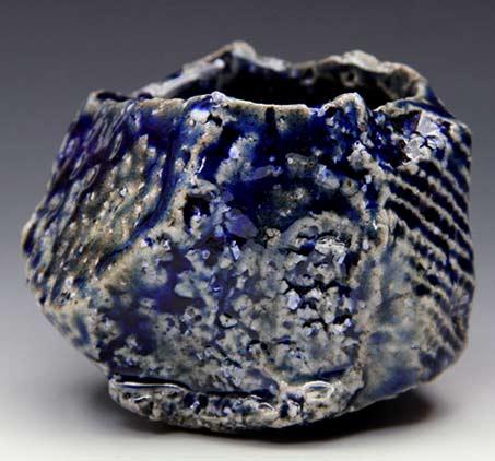 Tsuyoshi Shimizu blue sculptural cup