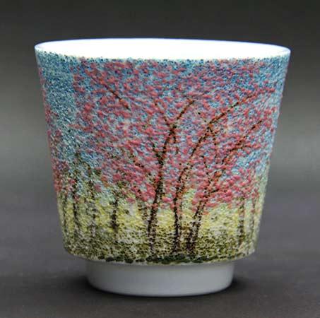 Yasunori-Nakao pink blossom tea cup