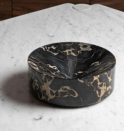 Contemporary coupe-portoro-marble-bowl-michael-verheyden