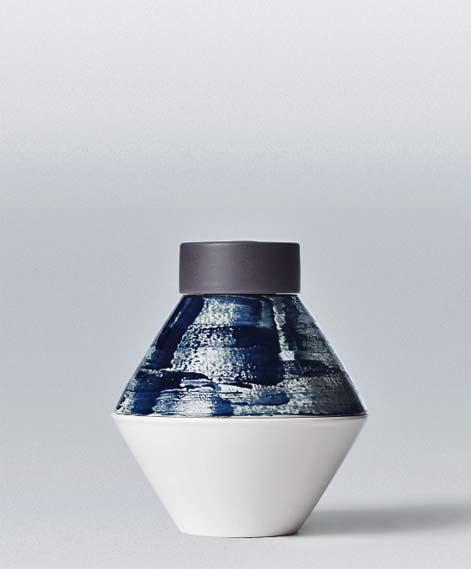 Contemporary form Pascale Girardin ceramic vase