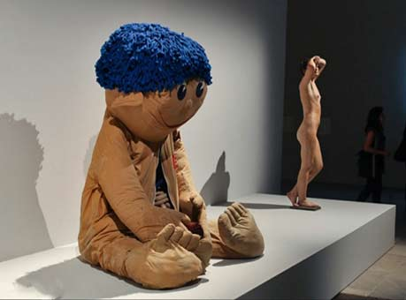 Cindy-Sherman sculpture doll
