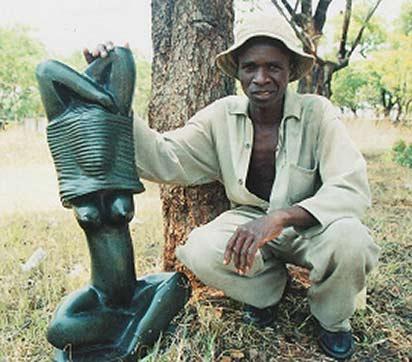 African_Art_Shona_Sculpture_-_Samson_Kurehwatira - female figure stone