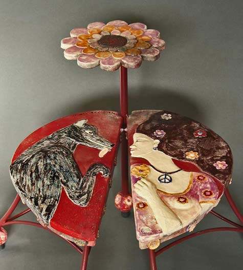 Agnès-Coupey-glazed ceramic-table