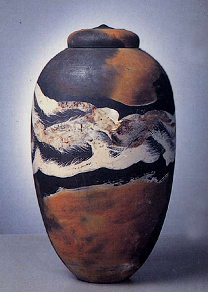Armel-Hédé-lidded-jar earth tones