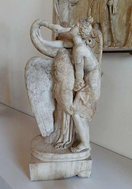 At the Correr Museum in Venice, 'Gruppo di Leda e il Cigno'. This is a Roman replica from Hadrian's era of a 1st century Greek original.