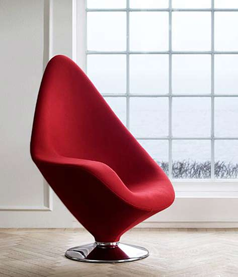 Chase Modern Lounge Chairs by Engelbrechts---Crimson Plateau chair