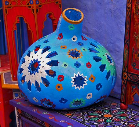 Chefchaouen,-Morocco's-Blue-Pearl - pottery vessel