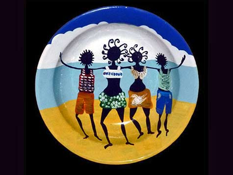 painted-plate-inspired-by-Afro-Caribbean-culture
