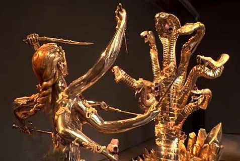 Damien-Hirst---Battle-with-Hydra-sculpture