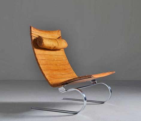 Easy chair PK-20 designed by Poul Kjaerholm