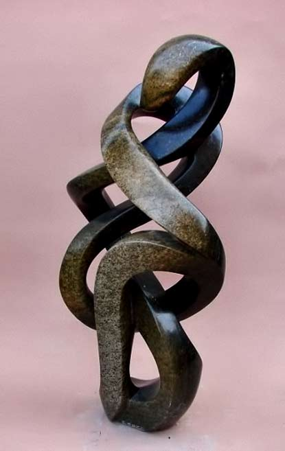 Edmore-Sango---Endless-Journey - abstract shona sculpture carved from stone