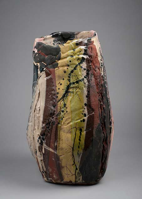 Françoise-Nugier-ceramic-vase abstract glaze decoration