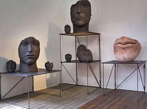 Les Journées de la Céramique - Paris - head sculptures