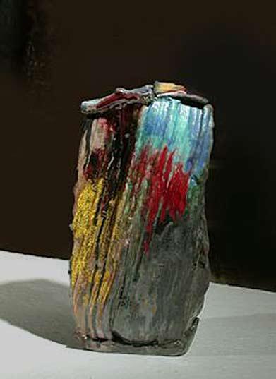 Gaudebert-Alain--ceramic polychrome vase