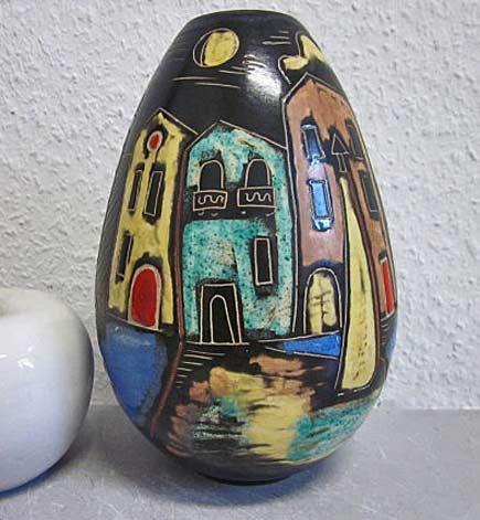 German Ahr-Keramik Venedig Venice 50s art pottery vase WGP mid-century ceramicDesignclassics24