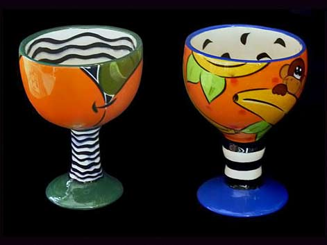 Goblet Pair From the PEFI collection by Cecilia Facio de Figueres