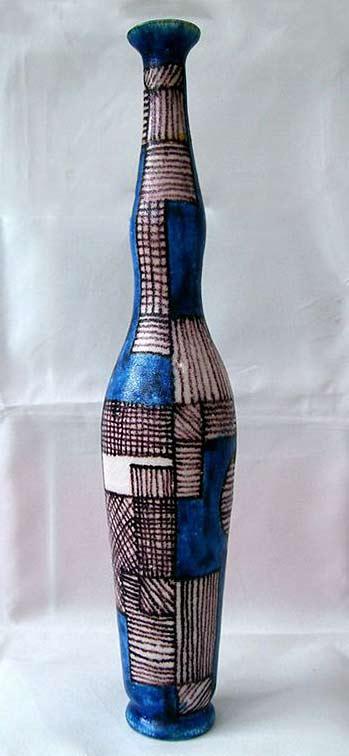 Guido-Gambone-vintage-vase - tall