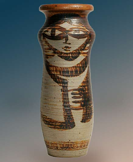 Harveys-on-Beverly-12.5inches-vintage-vase with face motif