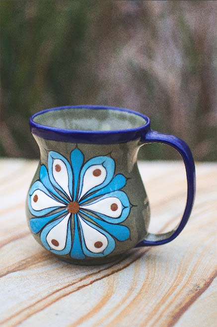 Flower motif coffee cup--Guatemala