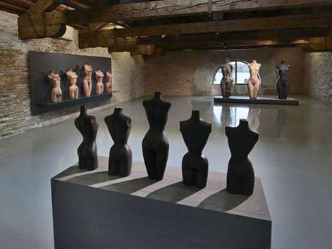 Hirst's 'Five Grecian Nudes', 'Five Antique Torsos', and 'Grecian Nude (three versions)'. (Photographed by Prudence Cuming Associates