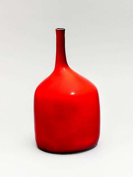 Georges Jouve red glaze bottle