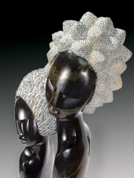 Lovers in Passion-Shona Sculpture-from-Zimbabwe by Rufaro Ngoma