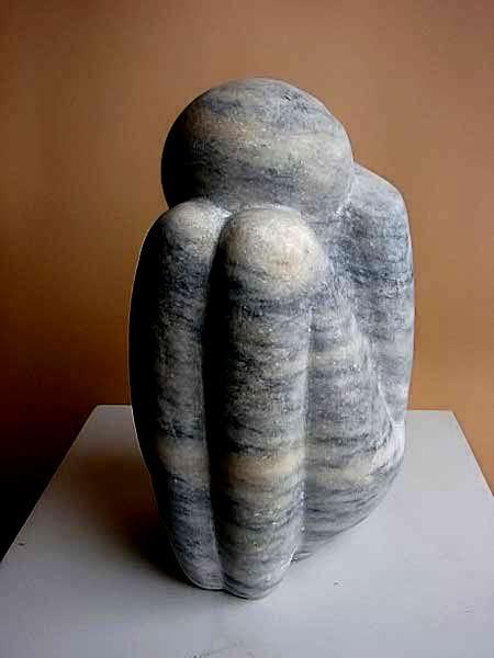Micheck-Makasa Foetus stone sculpture