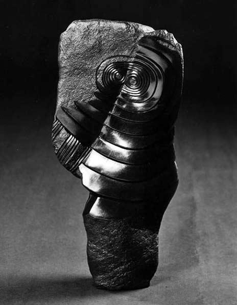 Nicholas-Mukomberanwa-Sculpture-Wise-Spirit abstract sculpture