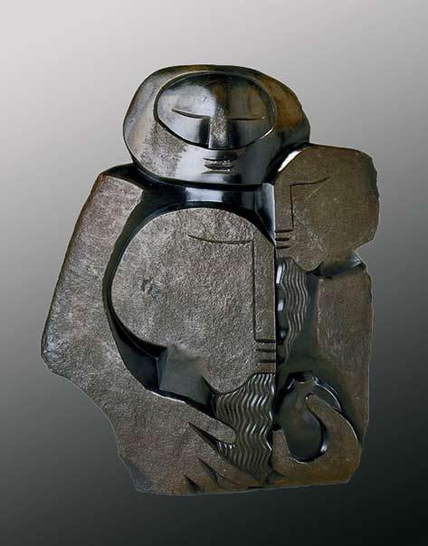 Nicholas Mukomberanwa (Zimbabwean, b. 1940), 'The Law Givers' 1998-1999; Indianapolis Museum of Art