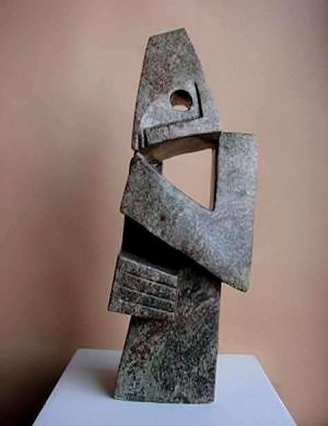 Onward-Sango-Cobalt-Thinking-cubist sculpture