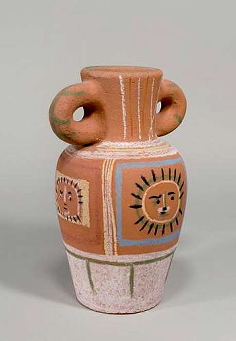 Pablo Picasso twin handles baluster vase