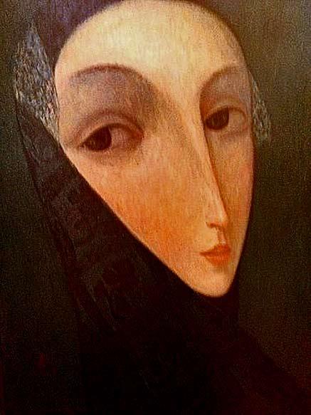 Female head painting Mountain Angel Sergey_Smirnov_Venice_2002