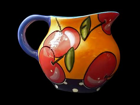 PEFI-Ceramics water jug with fruit decoration