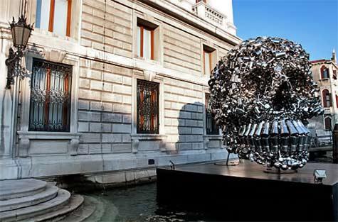 Subodh Gupta,-'Hungry Gods' Palazzo Grassi