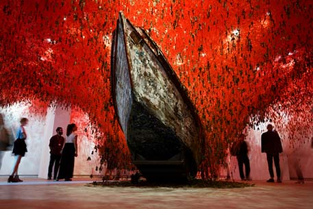 Venice-biennale2015--Chiharu-Shiota's-(b.-1972,-Osaka)-The-Key-in-the-Hand-the-feature-installation-of-the-Japanese-Pavillion