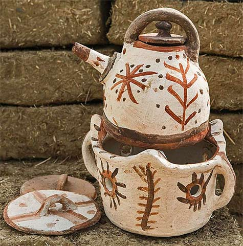 Women's-pottery tea pot - Rif,-Taounate