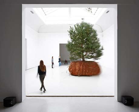 Tree sculpture - Celeste Boursier Mougenot--French-pavilion