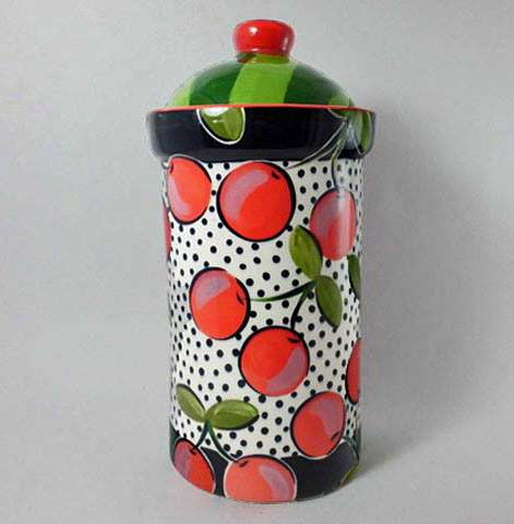 Cherries cookie-jar-A-splash-of-tropical-colour-for-your-kitchen